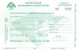 Walpole Fishing Licenses
